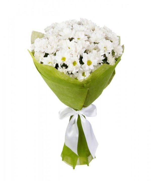 Букет белых хризантем 11 шт