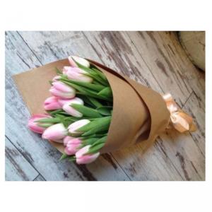 Букет тюльпанов розовых