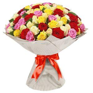 101 роза микс Кубанская