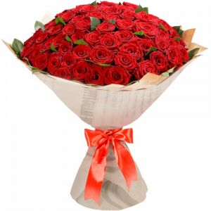 101 красная роза Кубанская