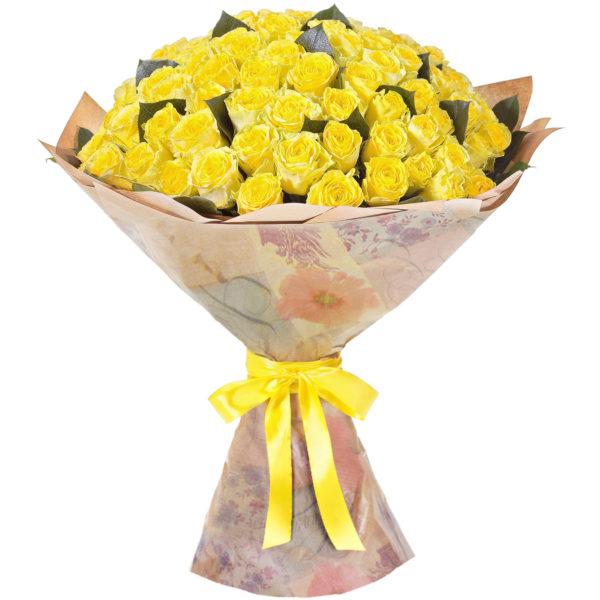 101 желтая роза кубанская