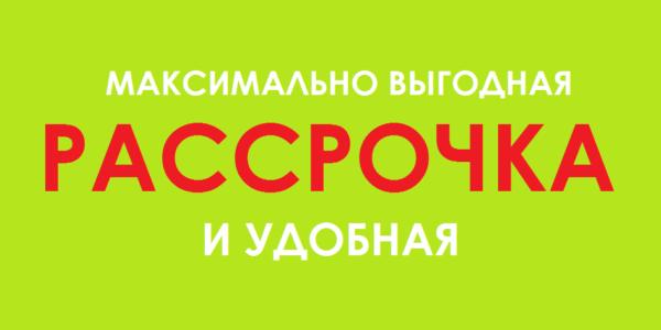 Рассрочка от 3000 рублей