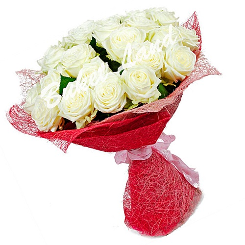Букет 29 белых роз