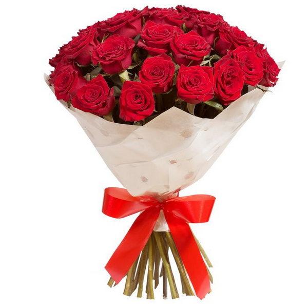 Букет 19 красных роз Кубанских