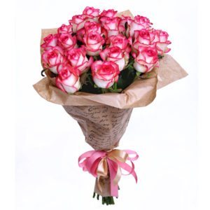 Букет 25 роз джумилия